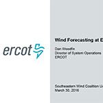 ERCOT Wind Forecasting and Integration