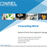 NREL Wind Forecasting and Integration