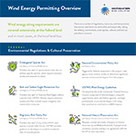 Wind Energy Permitting and Siting
