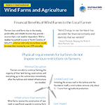 Wind Farms and Agriculture